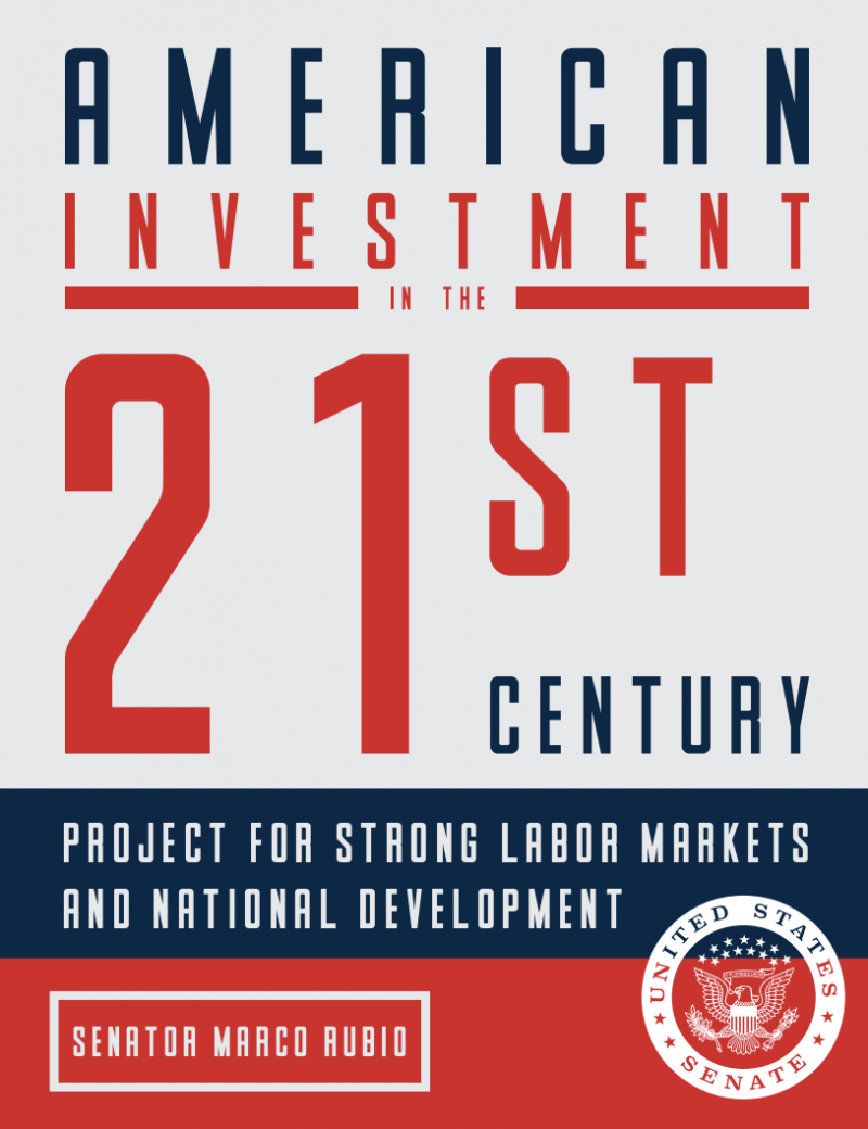 Declining Business Investments by Marco Rubio